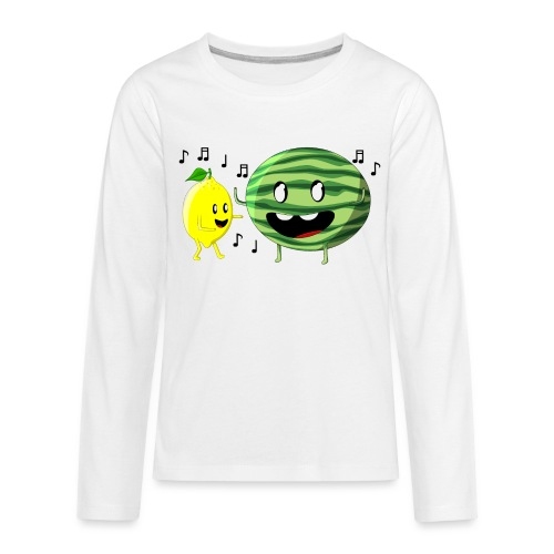 Dancing Lemon and Watermelon - Kids' Premium Long Sleeve T-Shirt