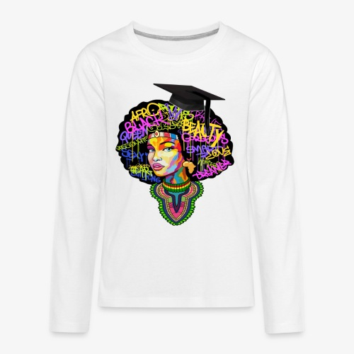 Graduation Melanin Queen Shirt Gift - Kids' Premium Long Sleeve T-Shirt