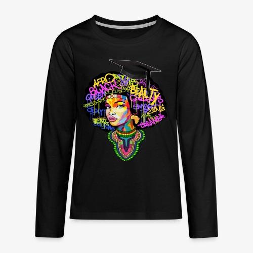 Graduation Melanin Queen Shirt Gift - Kids' Premium Long Sleeve T-Shirt