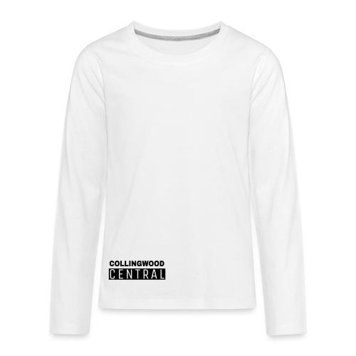 BLK Collingwood Central Logo - Kids' Premium Long Sleeve T-Shirt