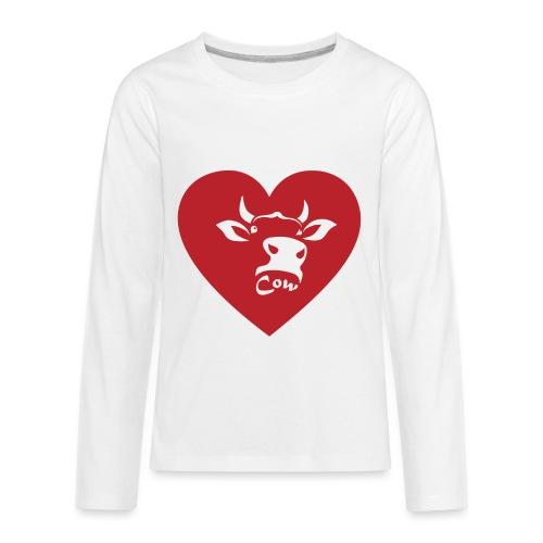 Cow Heart - Kids' Premium Long Sleeve T-Shirt