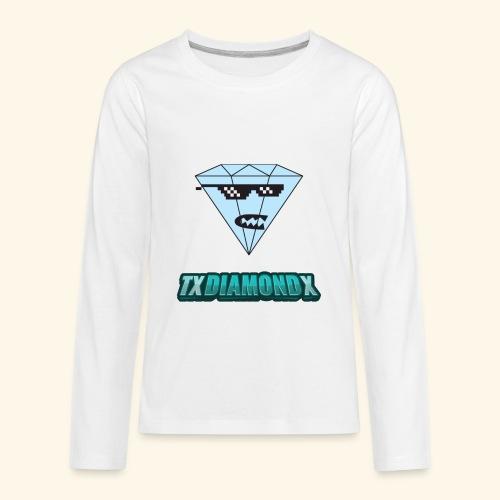 Txdiamondx Diamond Guy Logo - Kids' Premium Long Sleeve T-Shirt