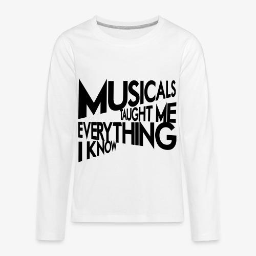 MTMEIK Black Logo - Kids' Premium Long Sleeve T-Shirt