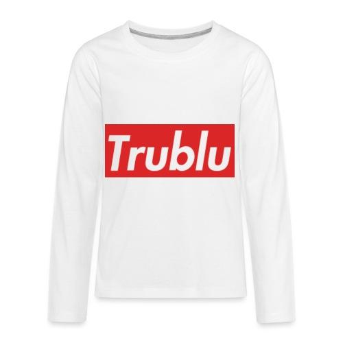 Trublu Red Box Logo(Big) - Kids' Premium Long Sleeve T-Shirt