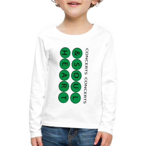 Heart & Soul Concerts text design - Mother Earth - Kids' Premium Long Sleeve T-Shirt