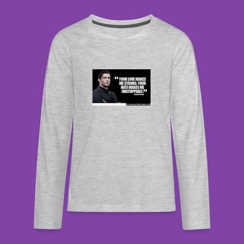 255777-Cristiano-ronaldo------quote-w - Kids' Premium Long Sleeve T-Shirt