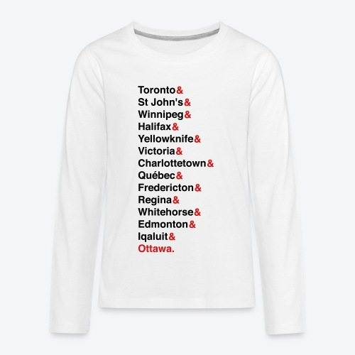 Canada's Capitals - Red & Black - Kids' Premium Long Sleeve T-Shirt
