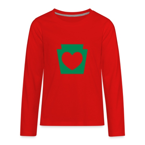 Love/Heart PA Keystone - Kids' Premium Long Sleeve T-Shirt