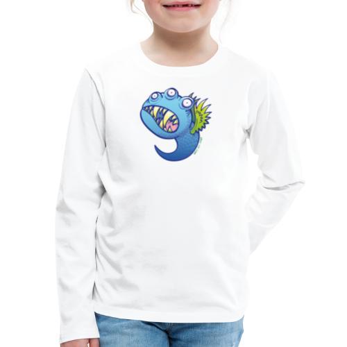 Winged little blue monster - Kids' Premium Long Sleeve T-Shirt