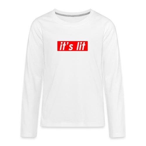 ITS LIT t-shirt - Kids' Premium Long Sleeve T-Shirt
