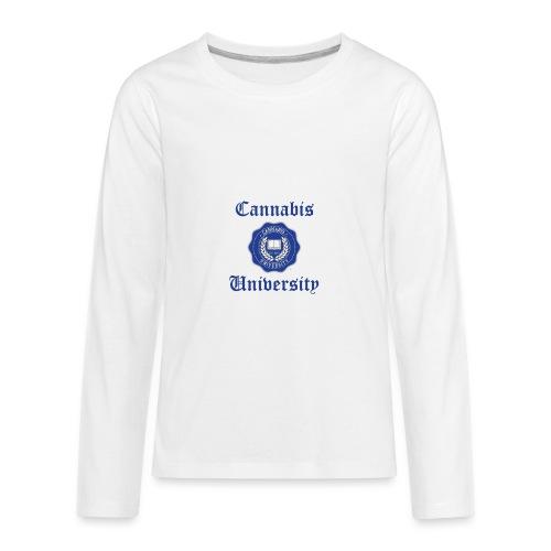 Cannabis University Text - Kids' Premium Long Sleeve T-Shirt