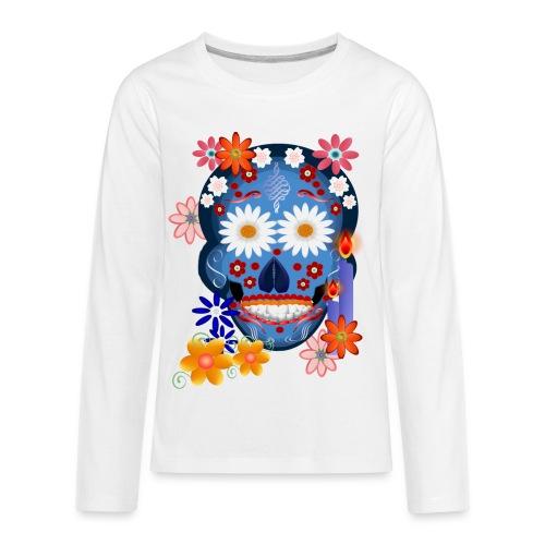 DarkSkull-day of the dead - Kids' Premium Long Sleeve T-Shirt