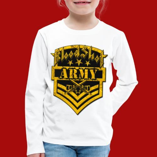 BloodShot ARMYLogo Gold /Black - Kids' Premium Long Sleeve T-Shirt