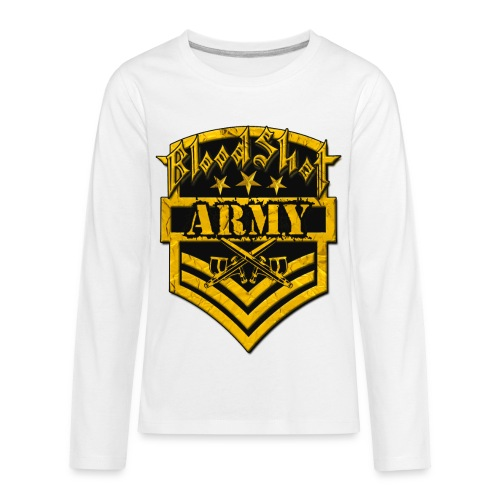 BloodShot ARMYLogo Gold /Black - Kids' Premium Long Sleeve T-Shirt