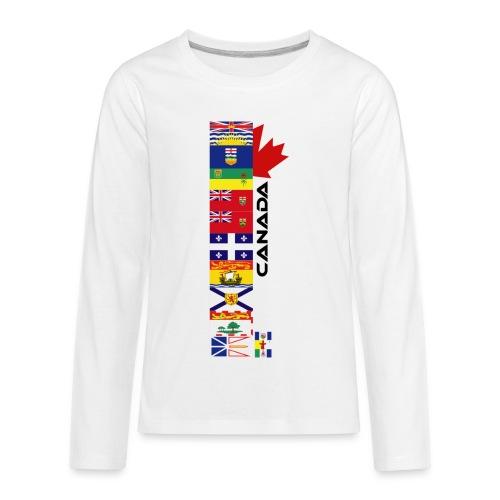 Canadian Provinces - Kids' Premium Long Sleeve T-Shirt