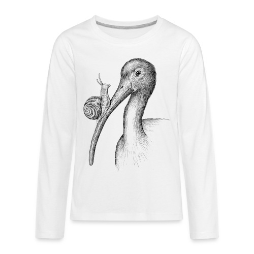 Ibis with Snail by Imoya Design - Kids' Premium Long Sleeve T-Shirt