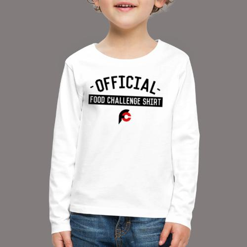Official Food Challenge Shirt 2 - Kids' Premium Long Sleeve T-Shirt