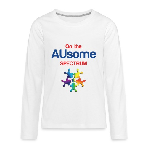 On the AUsome Spectrum - Kids' Premium Long Sleeve T-Shirt