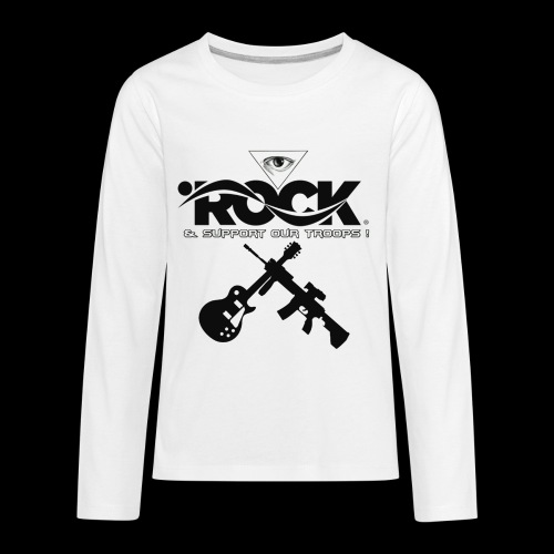 Eye Rock & Support The Troops - Kids' Premium Long Sleeve T-Shirt