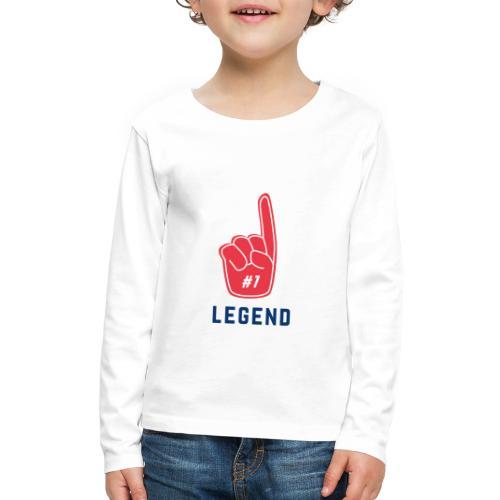 NUMBER 1 LEGEND - Kids' Premium Long Sleeve T-Shirt