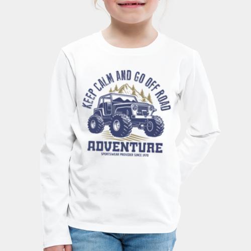 off road adventure nature - Kids' Premium Long Sleeve T-Shirt