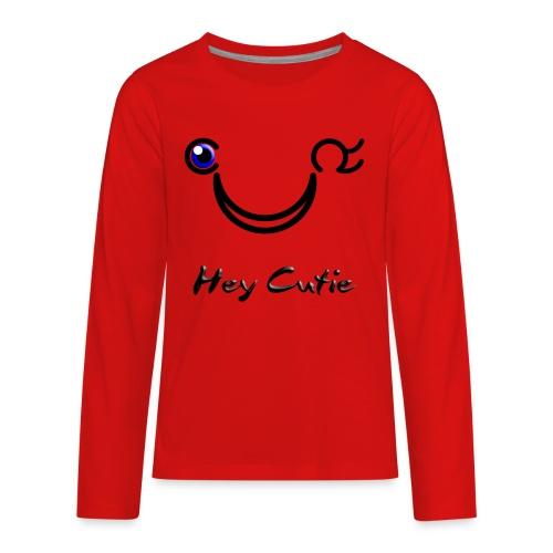 Hey Cutie Blue Eye Wink - Kids' Premium Long Sleeve T-Shirt