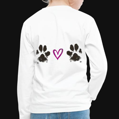 Paw Love black - Kids' Premium Long Sleeve T-Shirt