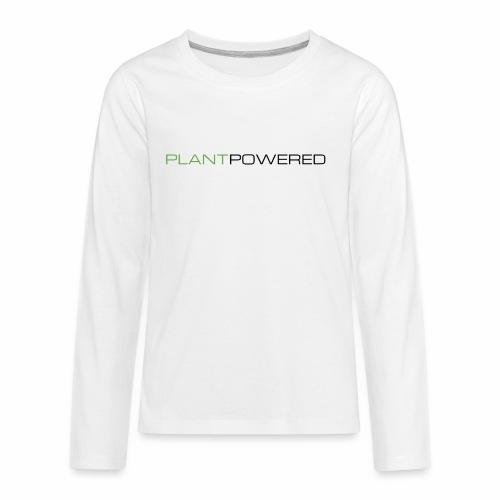 _PLANT POWERED - Kids' Premium Long Sleeve T-Shirt