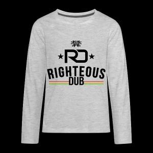 Righteous Dub Logo - Kids' Premium Long Sleeve T-Shirt