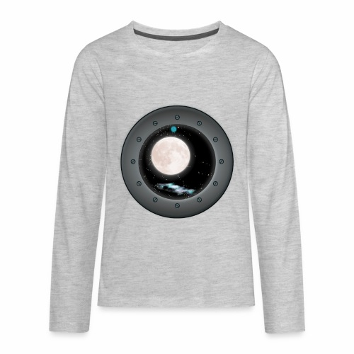 Space Window - Kids' Premium Long Sleeve T-Shirt