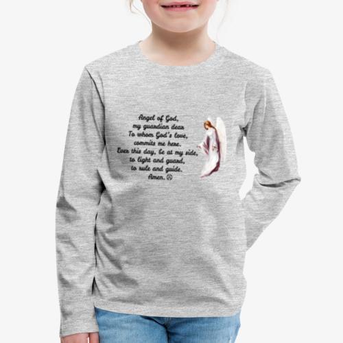 Guardian Angel prayer - Kids' Premium Long Sleeve T-Shirt