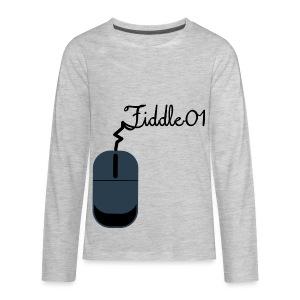 Fiddle01 Mouse Design - Kids' Premium Long Sleeve T-Shirt
