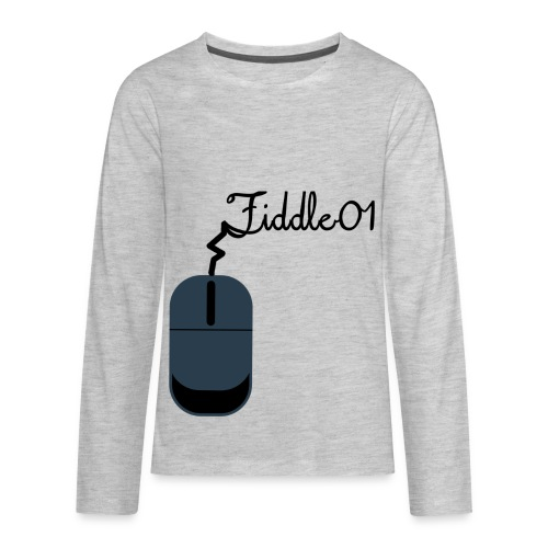Fiddle01 Mouse Design - Kids' Premium Long Sleeve T-Shirt