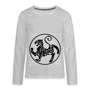 Shotokan-Tiger_black - Kids' Premium Long Sleeve T-Shirt