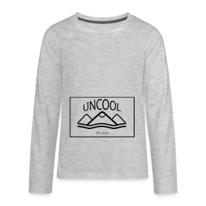 uncool_bw - Kids' Premium Long Sleeve T-Shirt