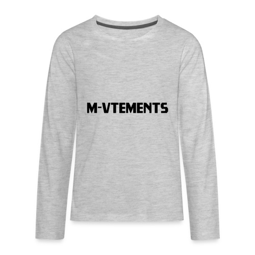 M-VTEMENTS T-SHIRT LOGO - Kids' Premium Long Sleeve T-Shirt