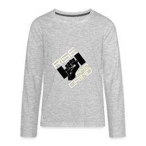 RISE AND GRIND - Kids' Premium Long Sleeve T-Shirt