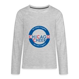 CHICAGO CHEER.com - Kids' Premium Long Sleeve T-Shirt