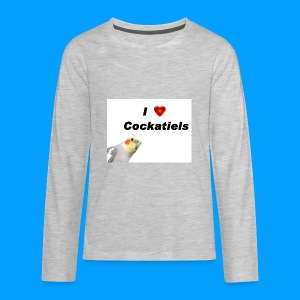 Cockatiels - Kids' Premium Long Sleeve T-Shirt