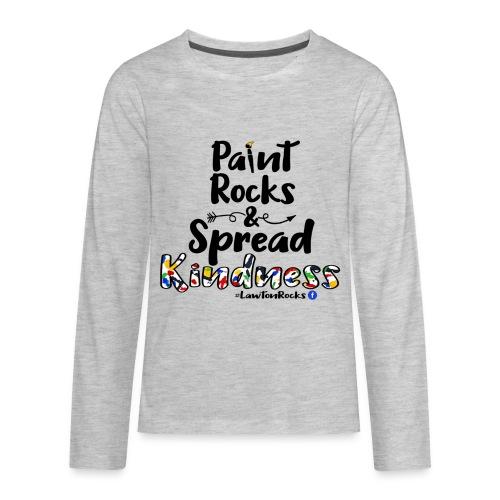 Paint Rocks, Spread Kindness_LawtonRocks - Kids' Premium Long Sleeve T-Shirt