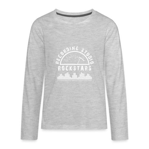 Recording Studio Rockstars - White Logo - Kids' Premium Long Sleeve T-Shirt