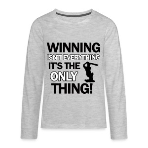 cricket wining tee - Kids' Premium Long Sleeve T-Shirt
