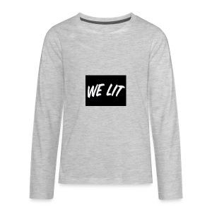 we lit merch - Kids' Premium Long Sleeve T-Shirt