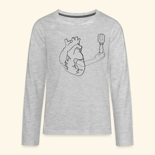 Wounded Heart - Kids' Premium Long Sleeve T-Shirt