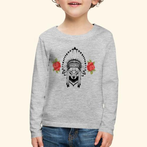 WOLF KING - Kids' Premium Long Sleeve T-Shirt