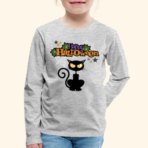 happy holloween BLACCK CAT TEE - Kids' Premium Long Sleeve T-Shirt