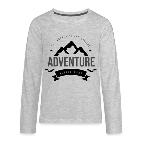 The mountains are calling T-shirt - Kids' Premium Long Sleeve T-Shirt