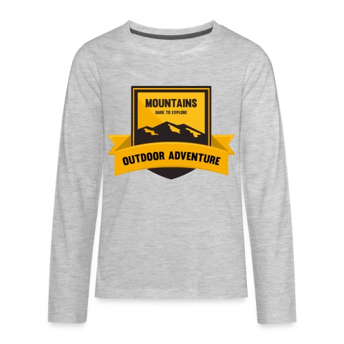 Mountains Dare to explore T-shirt - Kids' Premium Long Sleeve T-Shirt