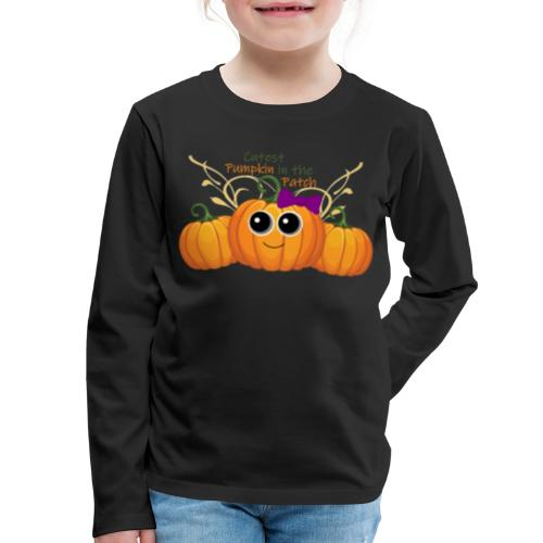 cutest pumpkin - Kids' Premium Long Sleeve T-Shirt