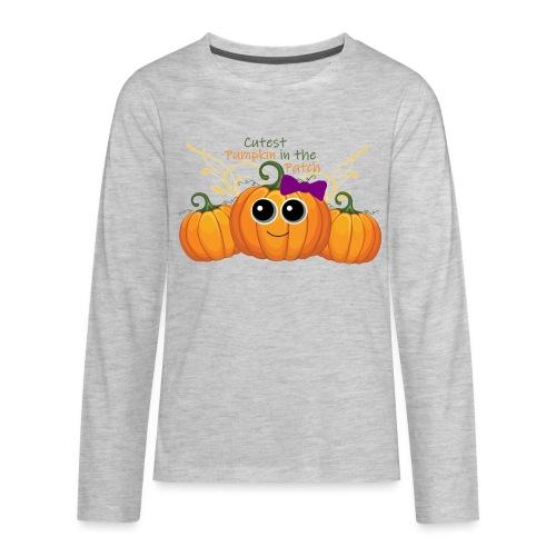 cutest pumpkin - Kids' Premium Long Sleeve T-Shirt